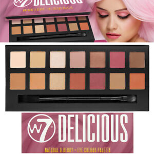 W7 Cosmetics Delicious Natural Nudes & Berry 14 Mix Eye Colour EyeShadow Palette