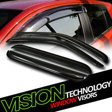 JDM Rain/Wind Guard Dark Vent Shade Deflector Window Visors 4PC 02-07 Liberty KJ