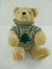 "Hallmark Trevor Teddy Bear Christmas Tree Sweater 11"" Stuffed Animal Xpf3536"