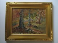 19TH CENTURY PAINTING LISTED AMERICAN IMPRESSIONIST ANTIQUE LANDSCAPE INDIANA