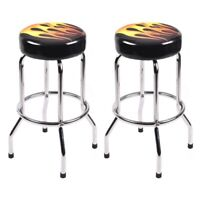 "Modern Home  29"" Round Counter Height Flame Bar Stools Retro Furniture Bar"