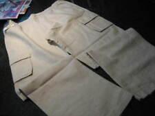 NWT- Mens ROUNDTREE & YORKE Khaki LINEN Blend CARGO Pants (36 x 29)