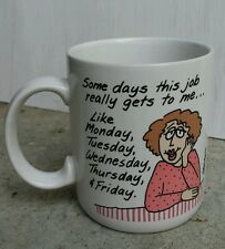 SHOEBOX GREETINGS Some Days My Job... COFFEE MUG Cup Hallmark Work Office Boss