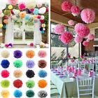 5pcs Tissue Paper Pom Flower Balls Wedding Party Home Outdoor Xmas Decor 6