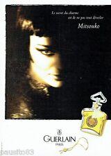 PUBLICITE ADVERTISING  116  1997   Guerlain parfum femme Mitsouko