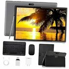 Android Tablet 10 inch,Tablet with Keyboard Mouse 3GB RAM 32GB ROM/128GB, Gray