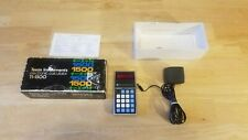 Texas Instruments Ti-1500 Electronic Led Calculator Working W Power Adapter