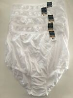 NWT Vanity Fair Cotton Panties (5) Five-pack Briefs 15318 White 6 7 8 9 10 11 12