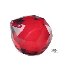 Red Crystal Glass Ball Chandelier Parts Prism Wedding Home DIY Decor Pendant