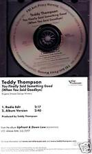 TEDDY THOMPSON You Finally Said EDIT PROMO DJ CD Single