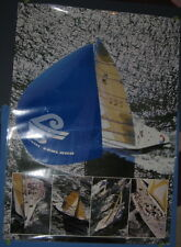 New Zealand Air Airline Promo Travel Poster KZ1 America's Cup Yacht Sailboat
