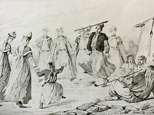 Arménie danse femmes Kurdes peuple Kurde gravure sur acier XIX ème