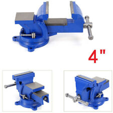 """Heavy Duty Mechanical Swivel Base 4"""" 100MM Milling Bench Vice Clamp With Anvil"""