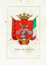 Araldica Stemma araldico della famiglia Manca di Cagliari