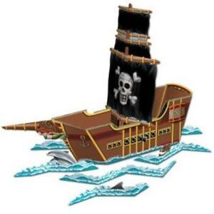 Pirate Ship Centerpiece Pirate Birthday Party Favor Halloween Decoration