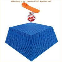 "1 Genuine LEGO Separator tool. PLUS BONUS 20 Blue 10""x10"" compatible base plates"