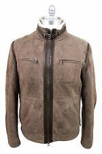 Brunello Cucinelli Lambskin USA 3XL Short Zipper Lammy Coat Beaver Brown