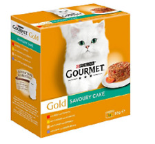Purina Gourmet Gold Savoury Cake 12 x85g Tins 3x Each Beef Chicken Turkey Lamb