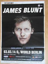 JAMES BLUNT 2014 BERLIN  -  orig. Concert Poster - Konzert Plakat  A1  F/U