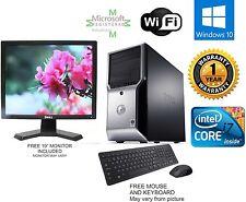Dell Precision T1500 Computer i7 870 2.93ghz 8gb 750GB Windows 10 hp 64 FX 580