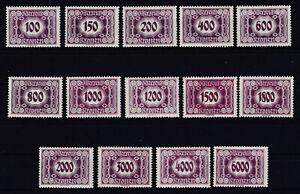 1922 Porto Neue Ziffernzeichnung 118 - 131 Postfrisch ** MNH