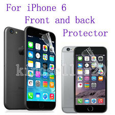 """1 x CLEAR Front and Back Protector Film Covers For Apple iPhone 6 4.7"""""""