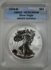 2013-W American Eagle 1 oz Reverse Proof Silver Dollar - ANACS RP70 DCAM