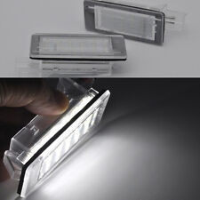 2x Bright White 18-LED License Plate Lights For Renault Espace MK4 Scenic Laguna