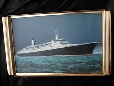 Cunard QUEEN ELIZABETH II QE 2 Serving Tray Souvenir