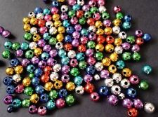 900pcs 6mm Acrylic CHRISTMAS JEWEL Round Spacer Beads - ASSORTED Metallic M19
