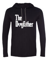 Mens Hooded The DogFather T Shirt Cute Dog Lover Gift Fathers Day Long Sleeve