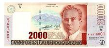 """Costa Rica … P-269d … 2000 Colones … 2003 … *UNC*   Serie """"A""""."""