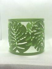 Party Lite Palm Leaf Jar Sleeve Metal .