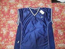 Starter Mens Size xxl(50/52)Navy-White Sleeveless Jersey Athletic SportShirt Nwt