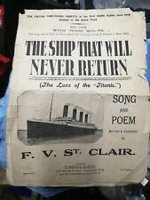 More details for the ship that will never return titanic sheet music 1912 vera lynn