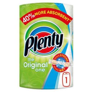 Plenty White Kitchen Roll 100 Sheets | The Original One | 1, 2, 4, 6 Qty Option