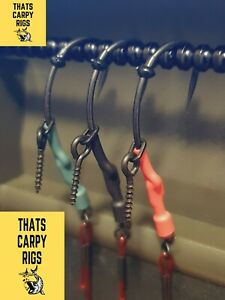 3 Bloodworm Spinner Rigs / Amnesia Red / Ready Tied Carp Rigs / NEW 2021 / Korda