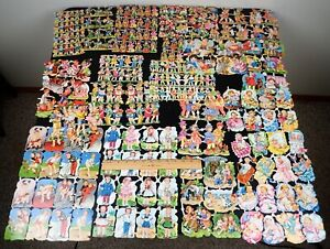 LOT OF VINTAGE SCRAPBOOK DIE-CUTS GERMAN PZB ALL CHILDREN BABIES PLAYING