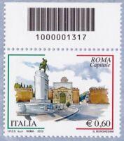 ITALIA Roma Capitale Codice a Barre Anno 2010 MNH**