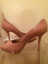 NEW Dior peep toe shoes patent leather light pink sz 40.5 / 10.5, pumps Italy