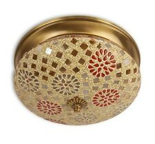 Fos Lighting Tilak Mosaic Brass Ceiling Lamp