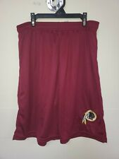 0724 Mens Nfl Washington Redskins Polyester Jersey Shorts Embroidered Maroon New