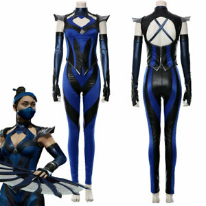 Game Mortal Kombat 11 Kitana Cosplay Costume Female Outfit Full Set Mask