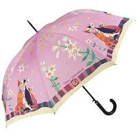 Regenschirm Automatk Blumen rosa Motiv Kunst Katzen Rosina Wachtmeister Lilien