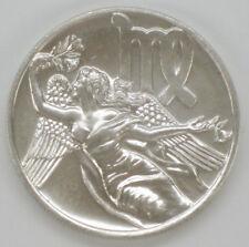 Rare 1983 Tentex Astrology Virgo Sign .999 Fine Silver 1 Oz. Art Round