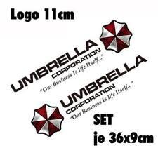 Resident Evil Umbrella Corporation Sticker Auto Aufkleber SET Car schwarz 50cm