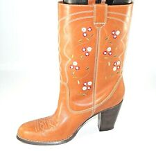 Seychelles Women's Leather Size 8.5 M Western/Cowboy Boots Brown