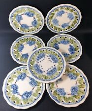 VBS Majolica Plates Set Of 7 Schramberg Villeroy Boch: 4 lilac flowers 1I