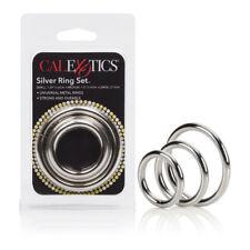 Silver Cock Ring 3 Piece Set - Small Medium Large Male Enhancer Enhancement