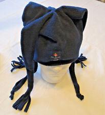 Salt Lake 2002 Olympics Visa Desjardins navy blue Jester hat cap adult OS EUC